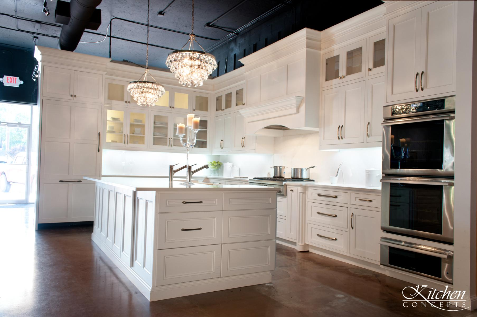 Custom White Kitchen at Kitchen Concepts