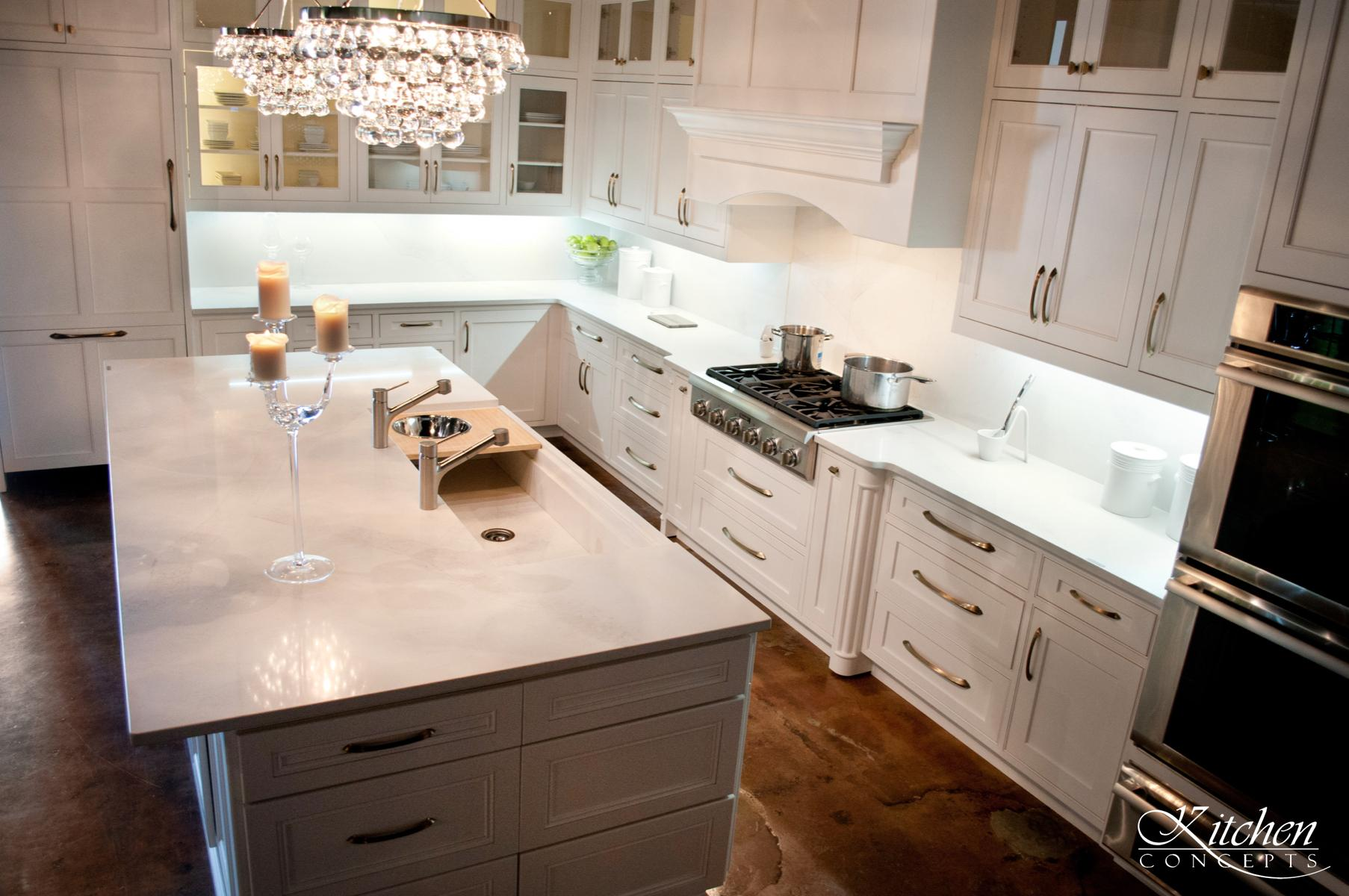 Custom White Kitchen at Kitchen Concepts - Kitchen Concepts